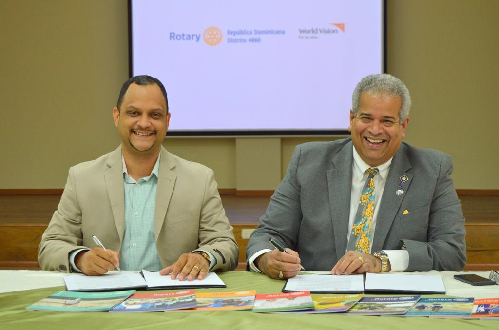 World Vision y Rotary República Dominicana firman acuerdo por el bienestar de la niñez