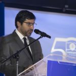 El presidente de la Junta Directiva de FUNDAPEC, Antonio César Alma Iglesias en sus palabras de bienvenida