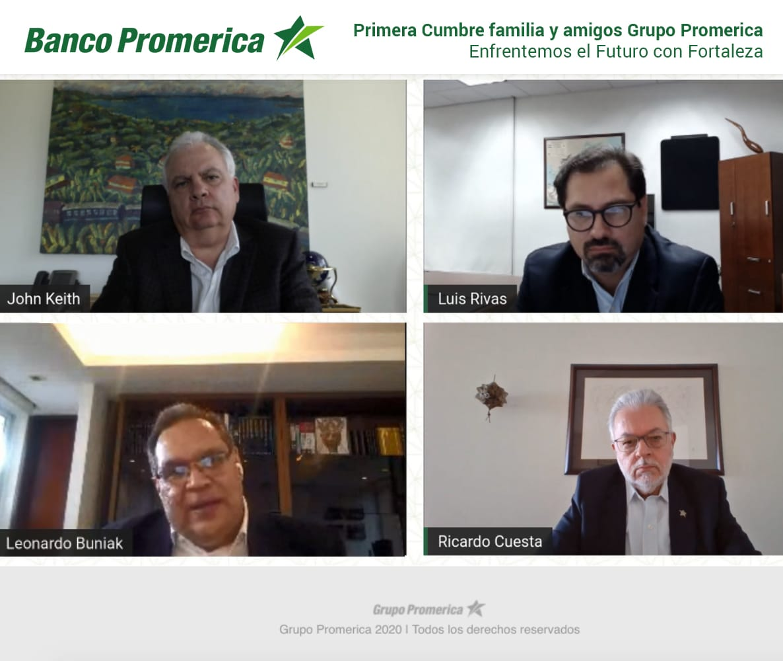 Conferencia Virtual dada por Promerica sobre Cumbre como enfrentar el futuro con fortaleza