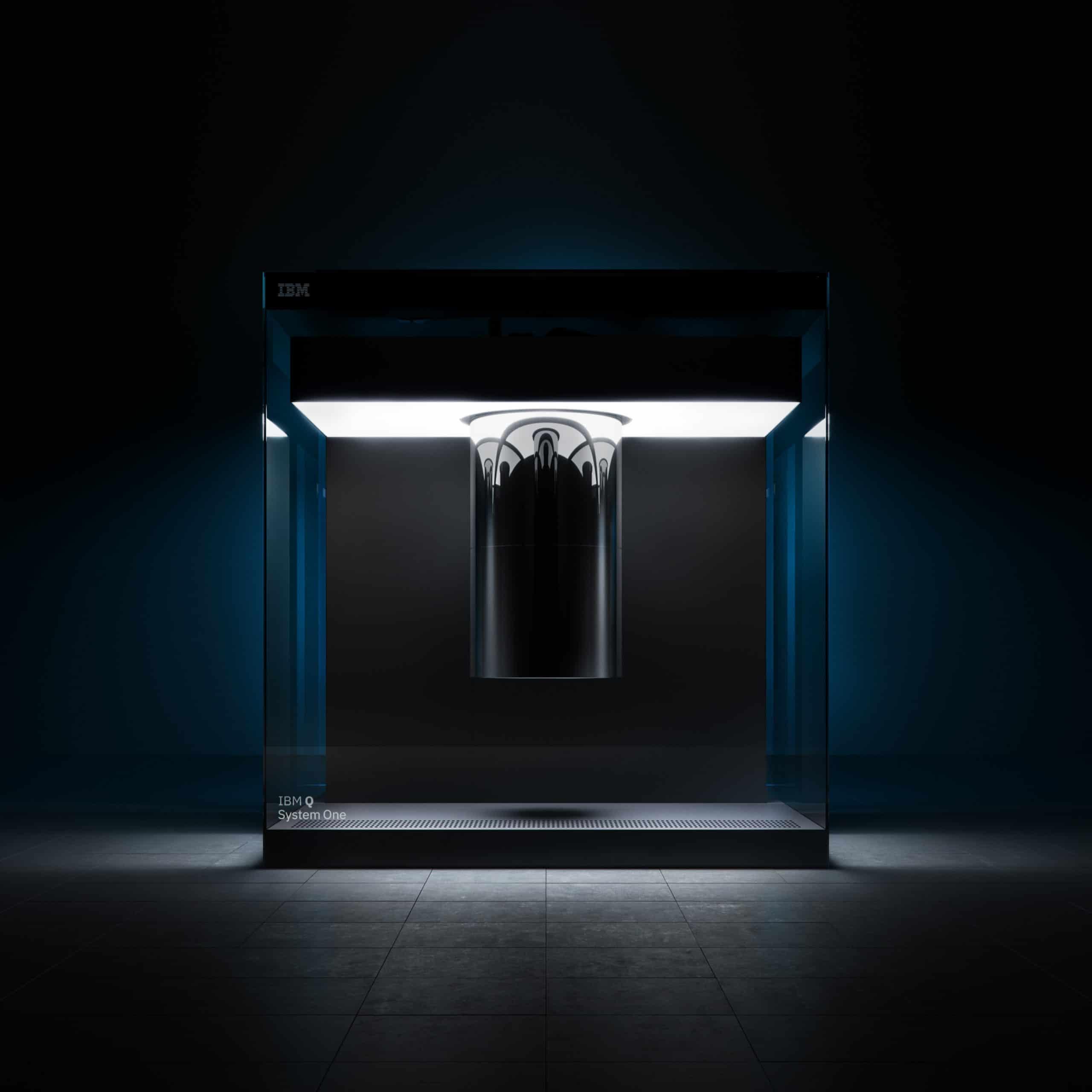 Foto del IBM Quantum System One que será parte de la colaboración entre Cleveland Clinic e IBM